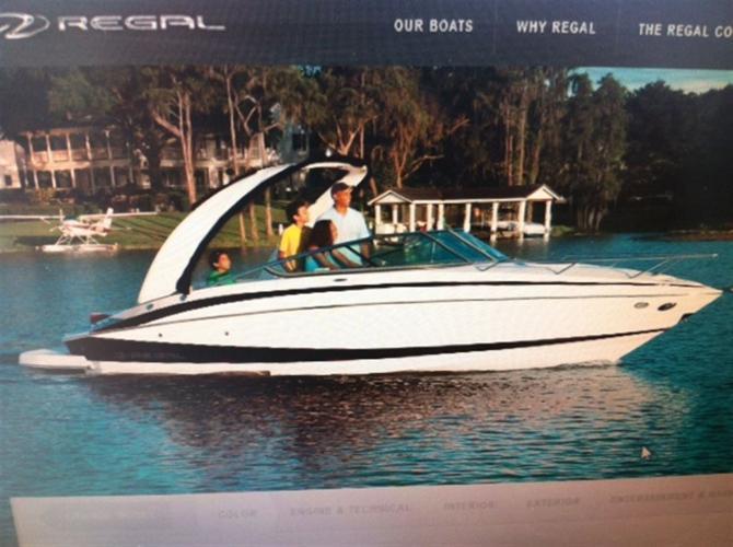 2013 Regal Marine 2550**RABAIS 9600$** 138$/SEM, $71,999