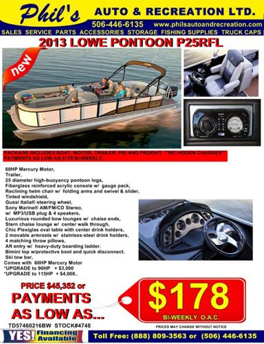 2013 Lowe Boats P25RFL IN STOCK - Lincoln