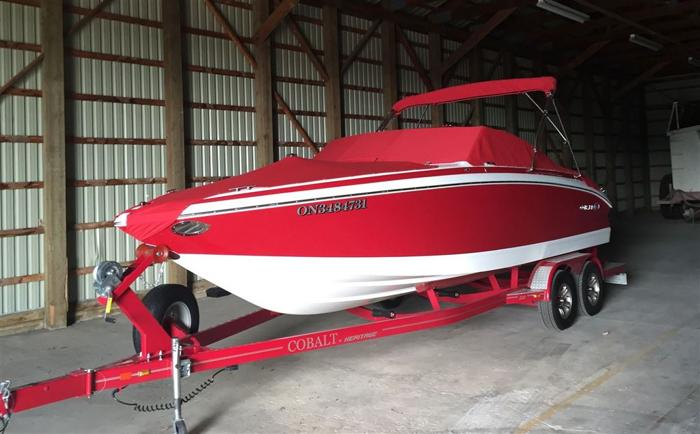 2012 Cobalt Boats 232 White with red hull side - INGERSOLL